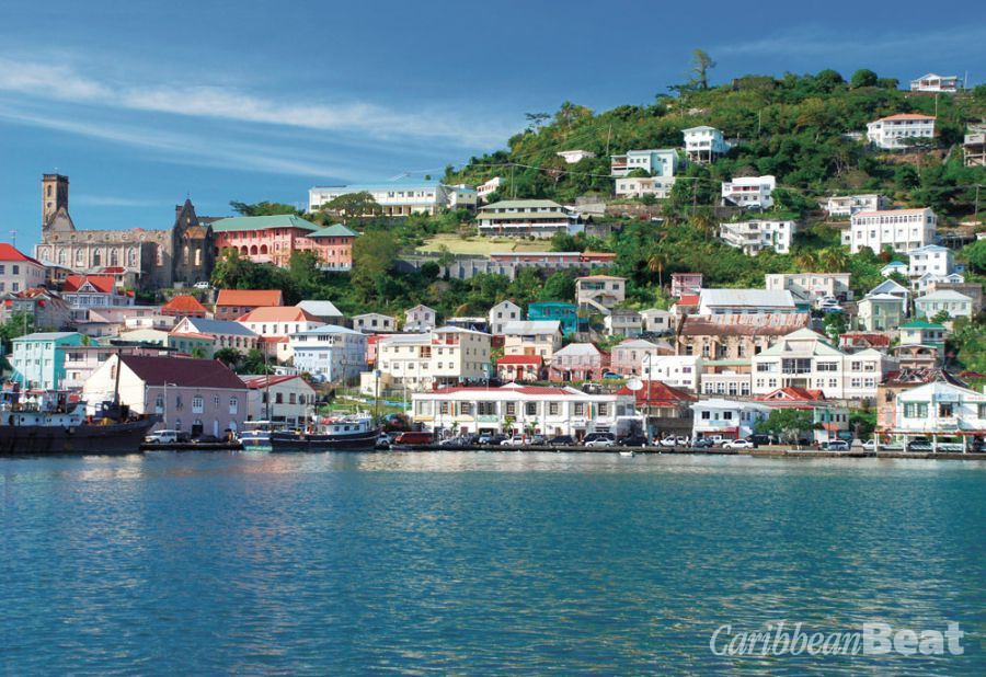 The buildings of St George's climb the hill above the harbour. Photograph by PHB.CZ (Richard Semik)/Shutterstock.com