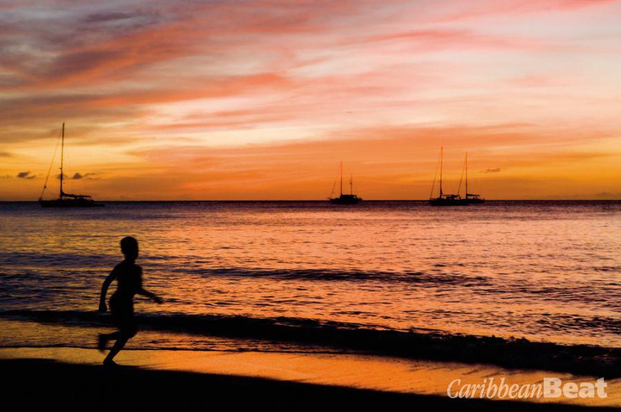 The sunset view from Grand Anse. PHB.CZ (Richard Semik)/Shutterstock.com