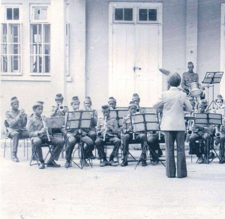 Alpha Boys music students in 1960s. Photograph courtesy Alpha Boys School