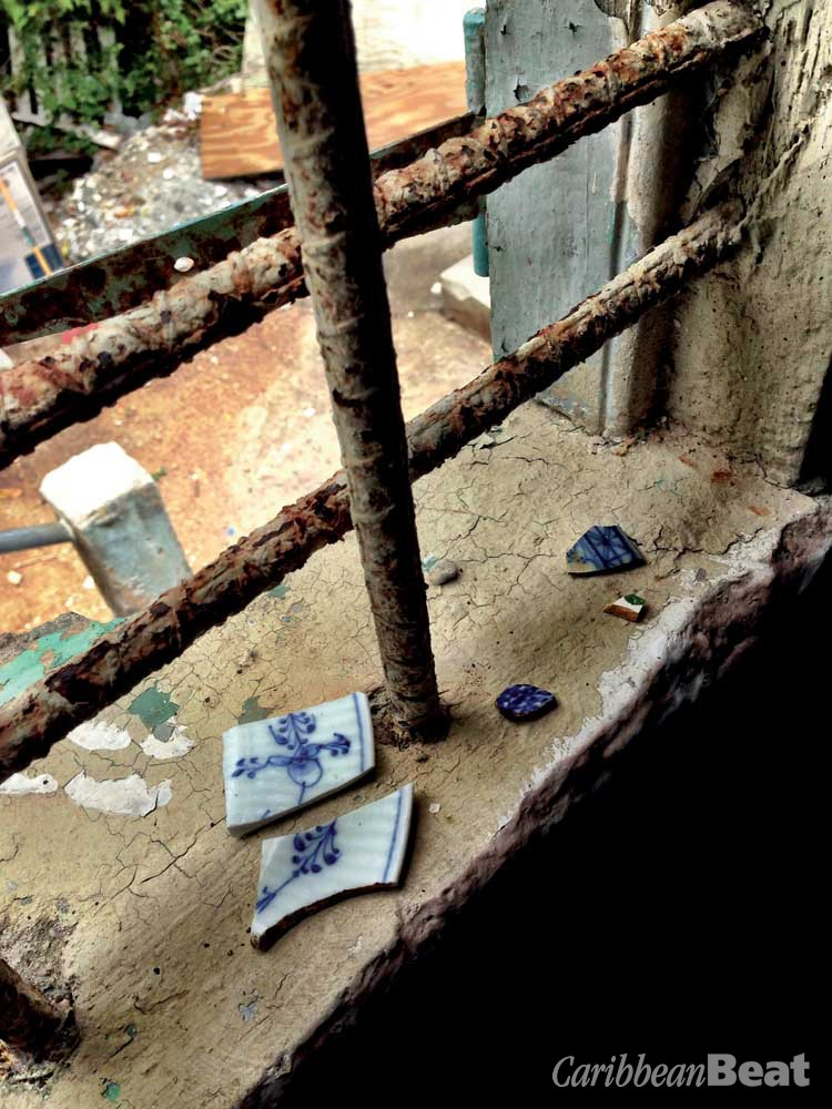 """Shards of """"Chaney,"""" the colonial-era ceramics that inspire Belle's new series of paintings. Photography courtesy La Vaughn Belle"""