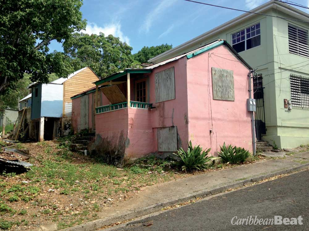 The derelict cottages on East Street in Christiansted which artist La Vaughn Belle is restoring to make studio space. Photography courtesy La Vaughn Belle