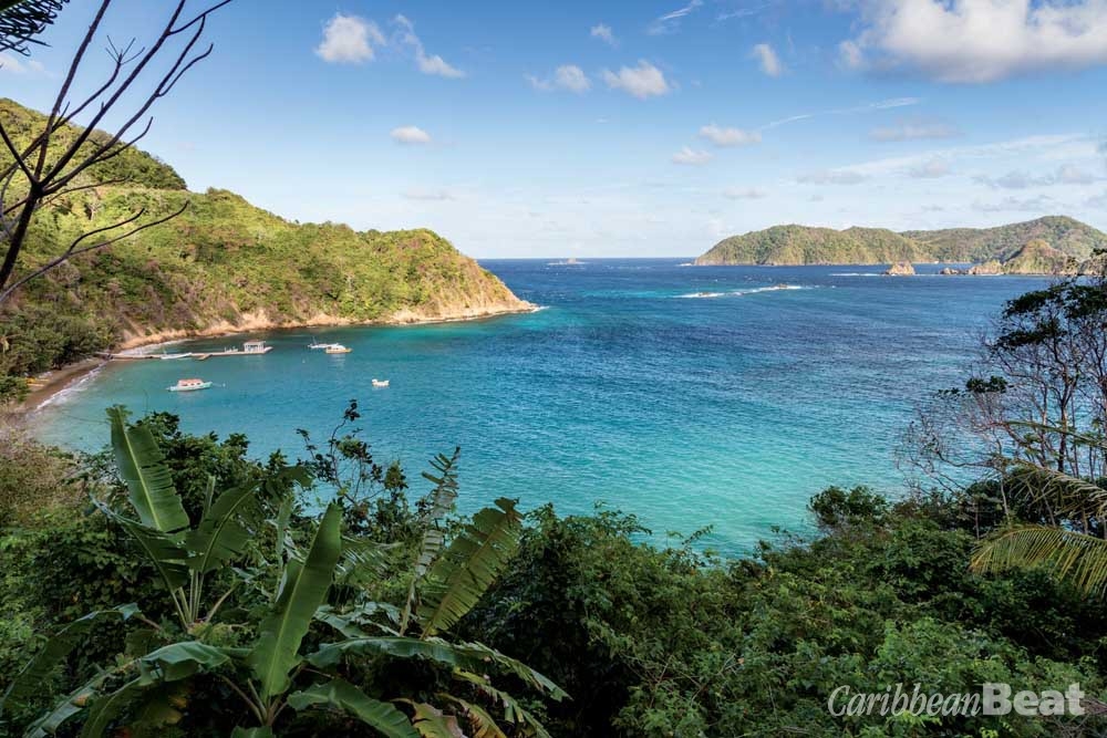 Looking towards Little Tobago from Batteaux Bay. Photograph by Hugh Stickney