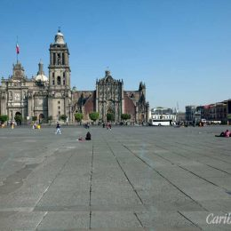 For centuries, the vast plaza known as the Zócalo has been the heart of Mexico City. Photograph by Papa Bravo/shutterstock.com
