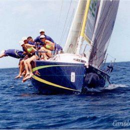 High jinks on the high seas at the 2002 Angostura Tobago sail week. Photograph by David Wears