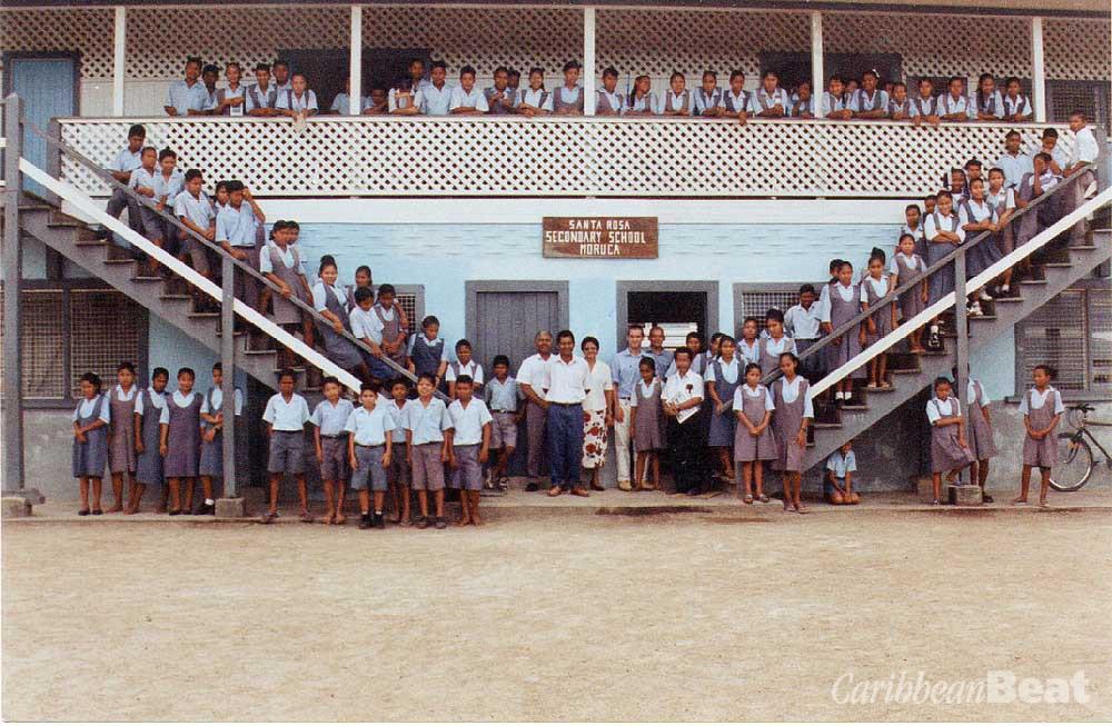 Students and teachers at the Santa Rosa High School. Photograph courtesy Hartmut Kruegar