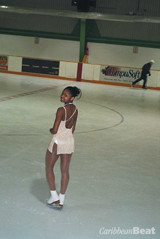 Tunara McClean on the ice. Photograph by Kwame Laurence