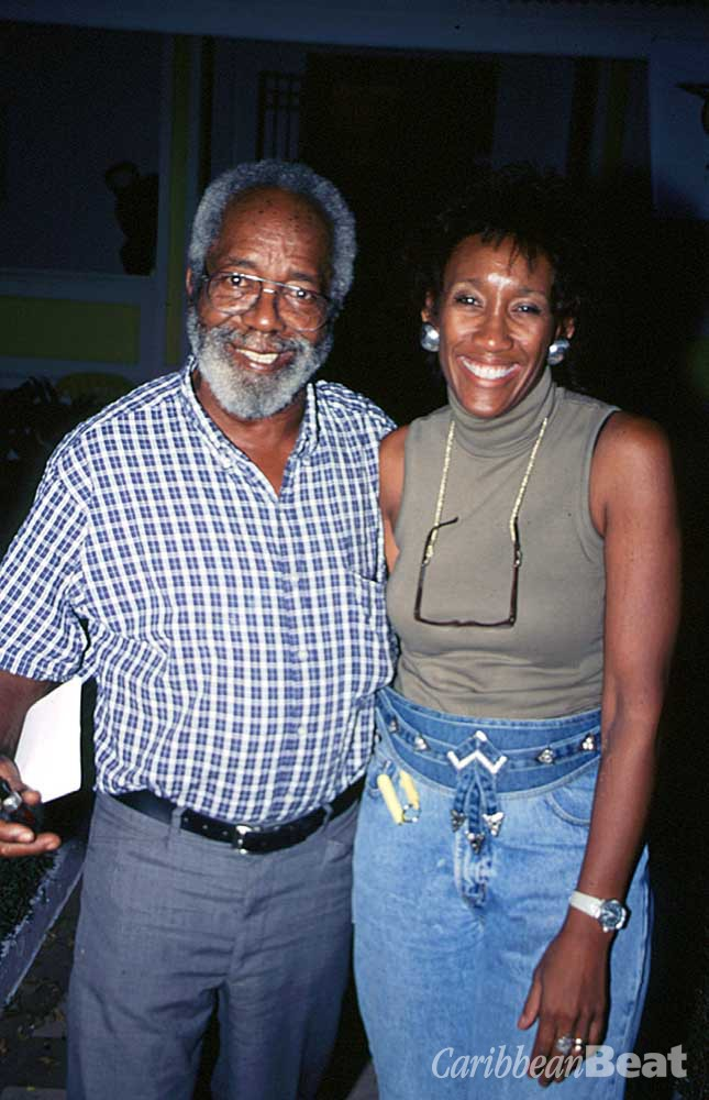 Watson with Vicki Assevero at the opening of his show at Kiskadee. A cultural Laboratory in Port of Spain. Photograph by Anton Modeste