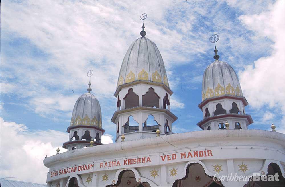 The ornate Arya Dewarker Hindu Temple, Paramaribo. Photograph by Mark Meredith
