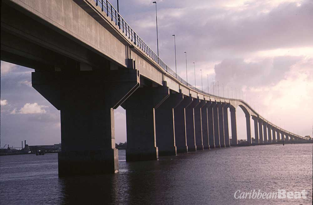 The Jules Albert Wijdenbosch Bridge, spanning the Suriname River. Photograph by Mark Meredith
