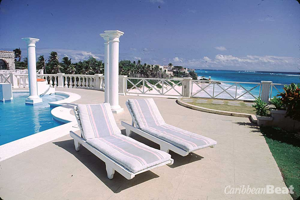 Poolside at the Crane, Barbados' s oldest resort hotel. Photograph by Chris Huxley