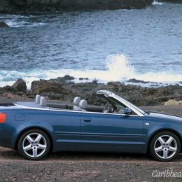 Audi — the brand-new, super-sexy Audi A4 Cabriolet. A great Christmas gift — any volunteers?