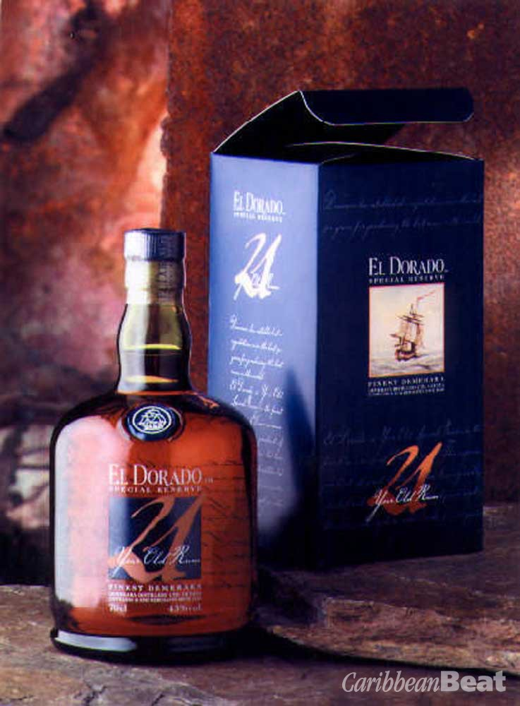 El Dorado 21-Year-Old — this marvellous dark-coloured rum has an ultra-smooth aftertaste and extremely well balanced flavour — you can taste both light and strong elements