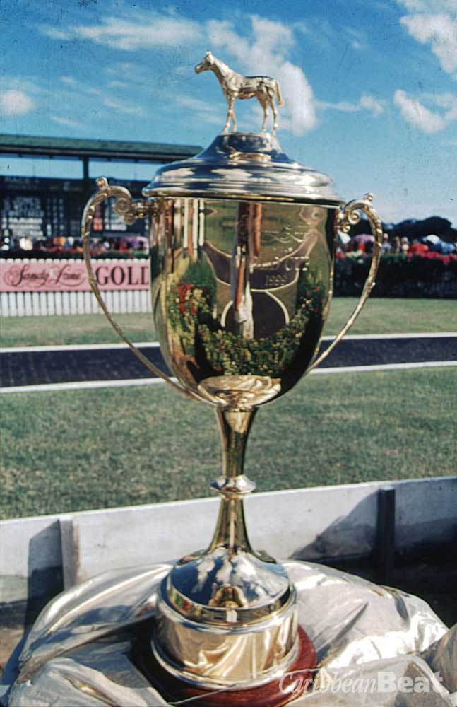 The Sandy Lane Gold Cup, Barbados's most prestigious horse-racing prize. Photograph by Mike Toy