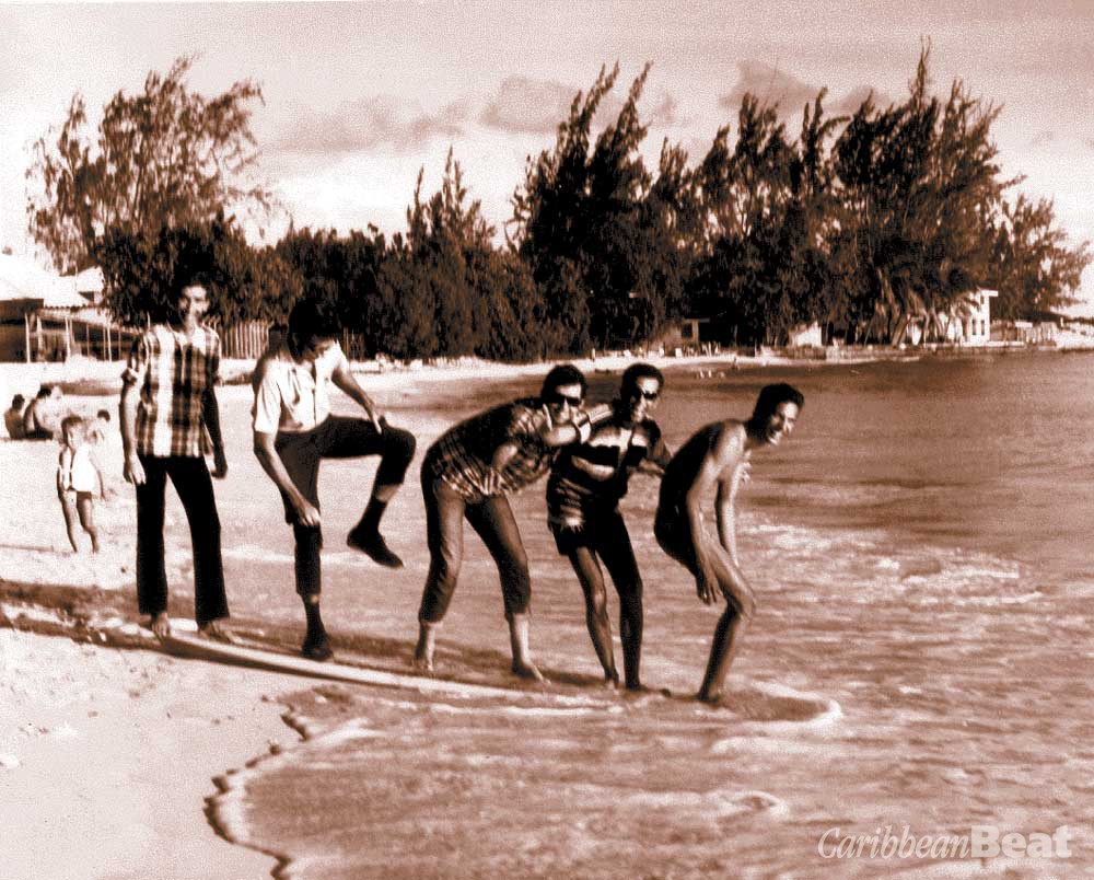 Fooling around on Dover Beach in the Gap's early swinging days