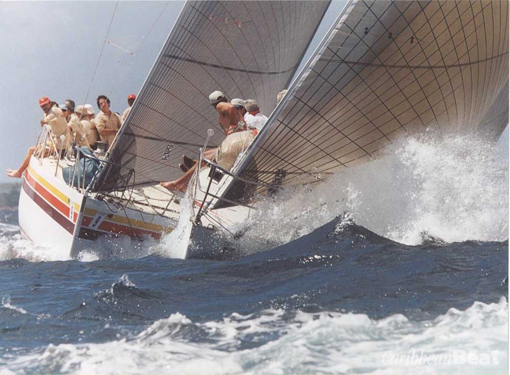 "Tackling the high seas during the Angostura Sail Week, ""the friendliest regatta in the Caribbean"". Photograph by David Wears"