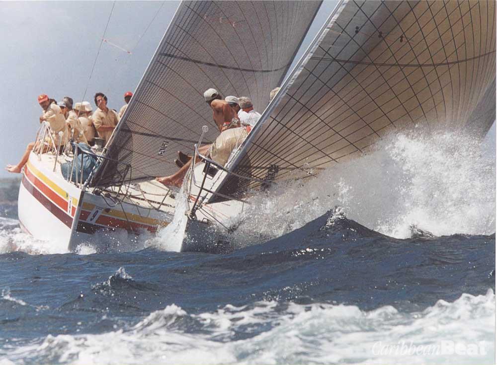 "Tackling the high seas during the Angostura Sail Week, ""the friendliest regatta in the Caribbean"". Photograph by David Wears"