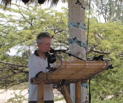 Jamaican writer Anthony Winkler reading at the 2004 Calabash festival.