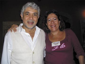 Monte Alexander with Curaçao Jazz president Jamila Romero. Photograph by David Pye