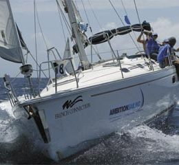 High seas action at the 2004 Angostura Sail Week. Photograph by Tim Wright