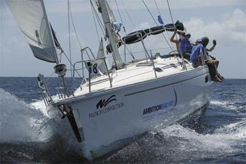 High seas action at the 2004 Angostura Sail Week. Photograph by Tim Wright