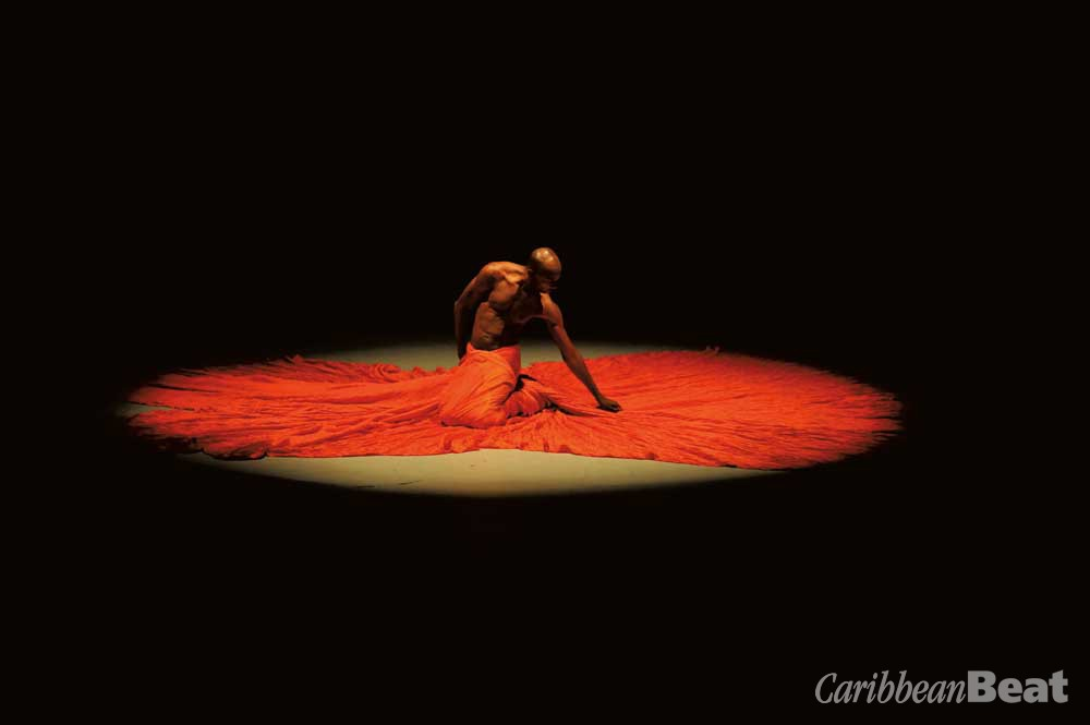 Scan (2009), a performance choreographed and performed by COCO co-founder Dave Williams. Photograph by Jeffery Chock