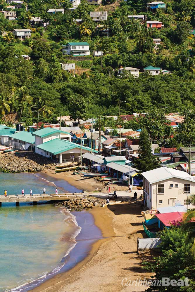 "Walcott's poem ""Homecoming: Anse La Raye"" describes the fishing village on St Lucia's west coast. ""Dazed by the sun / you trudge back to the village / past the white, salty esplanade . . ."". Photograph ©ORIREDMOUSE/ISTOCKPHOTO.COM"