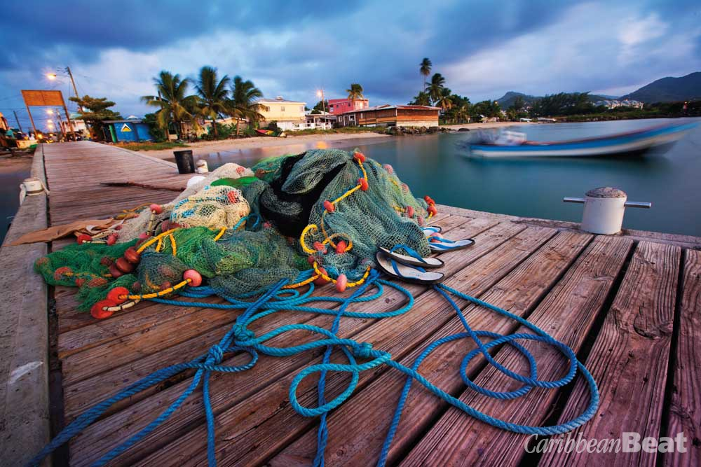 Fishermen's jetty at Gros Islet. Photograph by Danielle Devaux