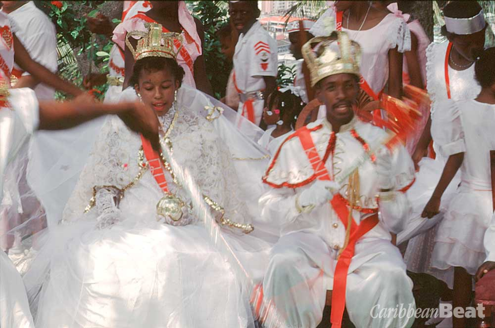 King and Queen of the Festival of St Rose of Lima (Fét La Woz), a flower festival held in August. The Feast of La Marguerite, another popular flower festival, is held in October. Photograph by Chris Huxley