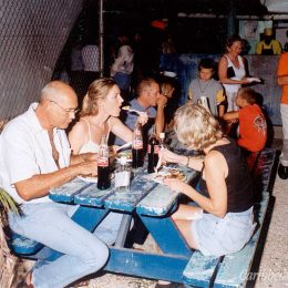 Visitors enjoy the Barbadian flavour and the atmosphere at Oistins. Photograph by Eric Young