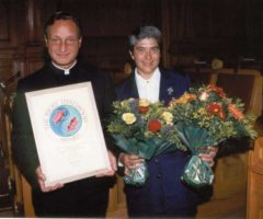 Fr Gerry Pantin with Sr Ruth Montrichard. Photograph by Roberta Pankin, courtesy SERVOL