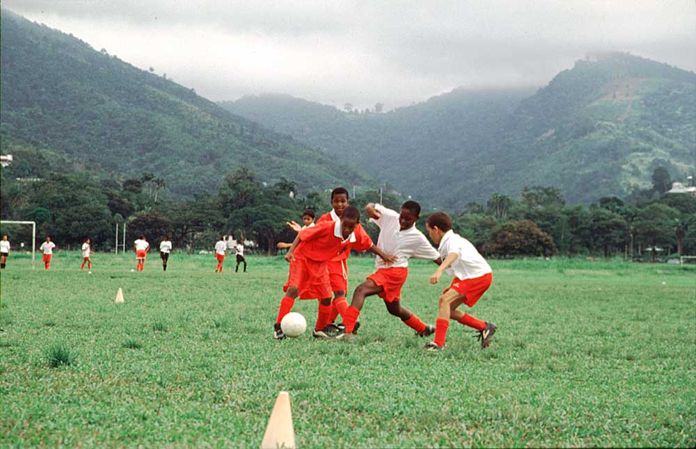 The Savannah is used for all sorts of sports, especially cricket and football. Photograph by Marlon Rouse