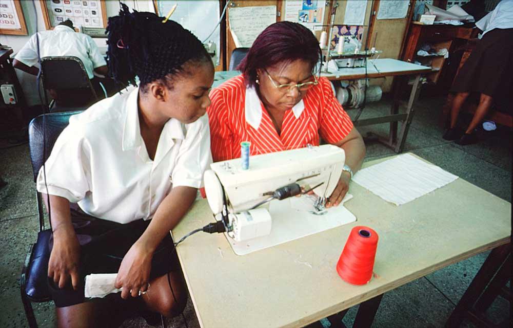 Needlework class. Photograph by Roberta Pankin, courtesy SERVOL
