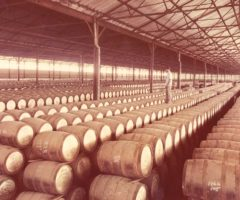 Angostura's rum during the aging process in one of the company's warehouses