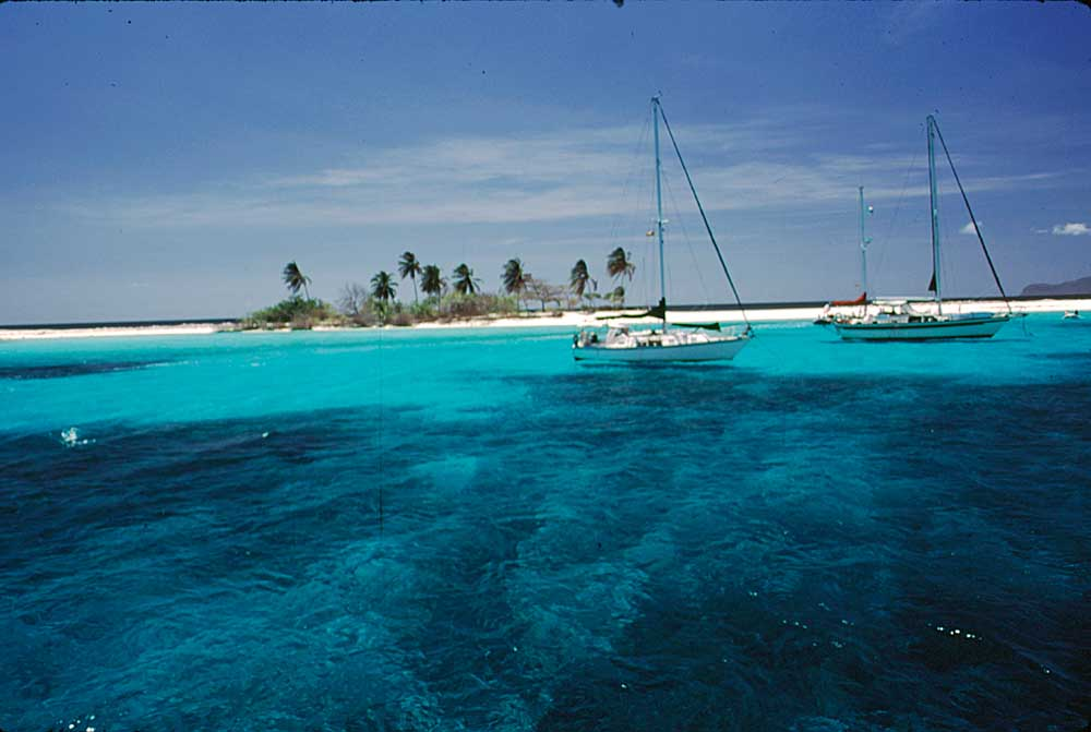 Sandy Island, off Carriacou, a popular mooring point for pleasure boats