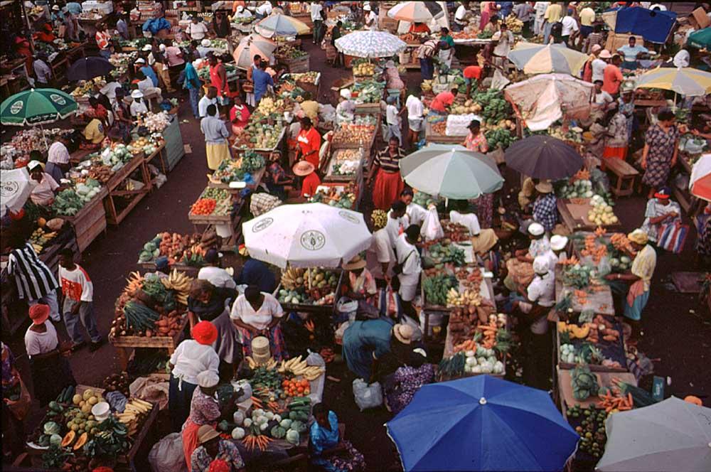 Saturday market in St George's