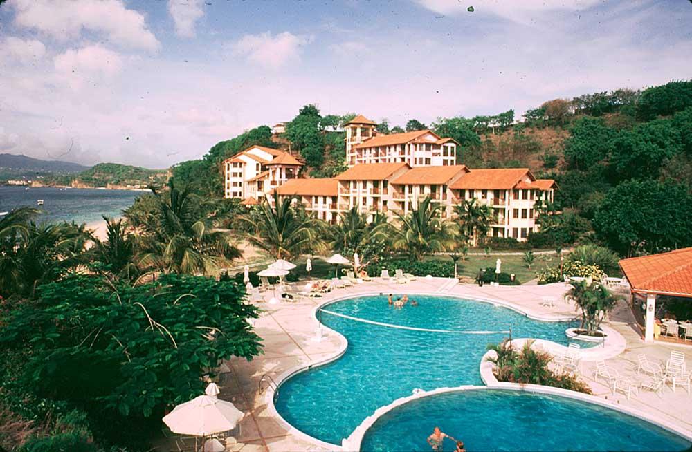 LaSource resort and spa at Pink Gin Beach. Photograph by Chris Huxley