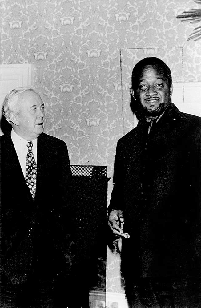 right: Guyana Scholar Forbes Burnham became his country's President. Photograph courtesy the National Library of Jamaica