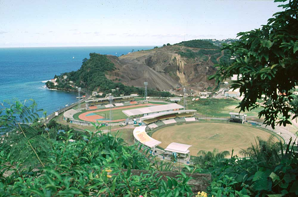 Grenada sports stadium at Queens Park. Photograph by Jim Rudin