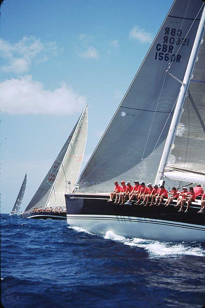 Sailing is big in Antigua: the season's highlight is Sailing Week in late April. Photograph by Sean Drakes/ Blue Mango