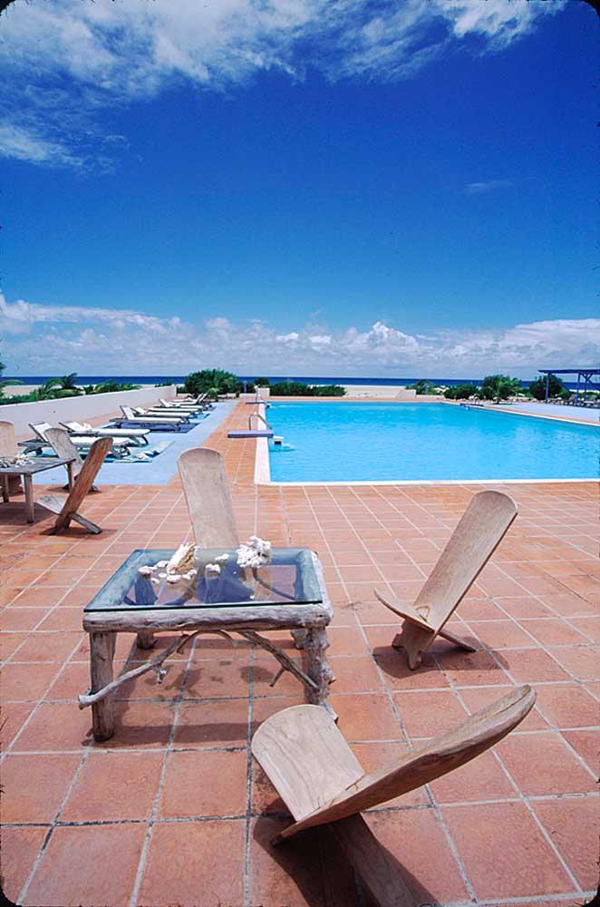 Palmetto Beach Hotel, Barbuda. Photograph by Sean Drakes/ Blue Mango
