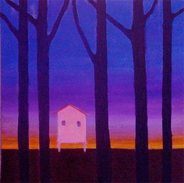Early (2005), oil on canvas. Photograph courtesy Shastri Maharaj