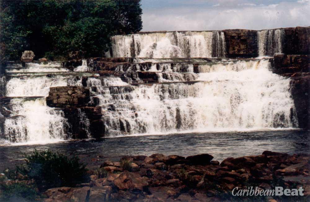 Orinduik Falls, Pakaraima. Photograph by Roxan Kinas