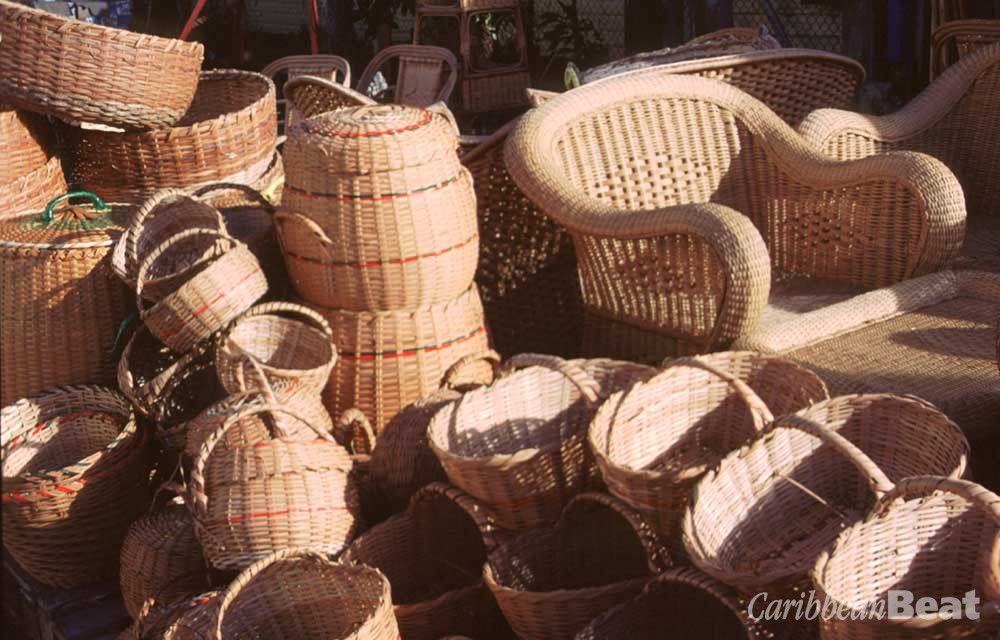 Wicker baskets and furniture can be had for a fraction of the cost elsewhere. Roxan Kinas