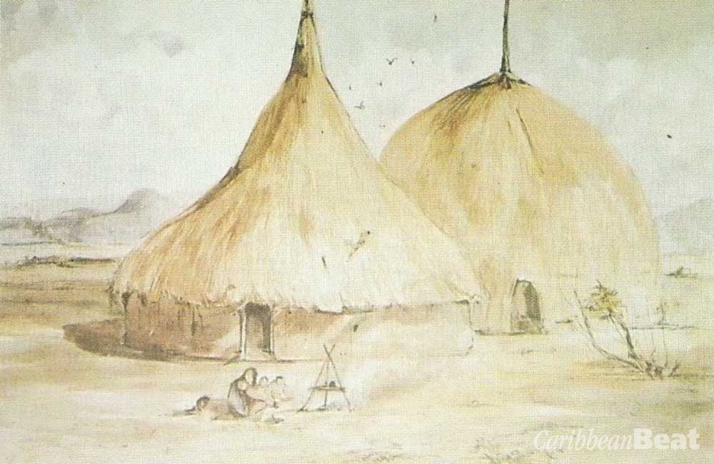Amerindian huts. British Library Board, courtesy Paria Publishing Co.