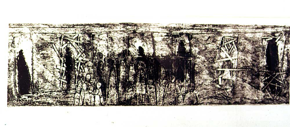 From The Dwellers series, 1996; print on handmade paper; private collection. Photograph by Petrine Archer-Straw