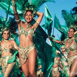 Bacchanal Women. Photograph by Sean Drakes/Blue Mango