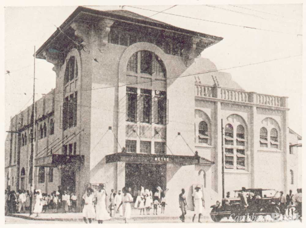 Metro Theatre (now Globe cinema) Port of Spain. Photograph courtesy Adrian Camp-Campins