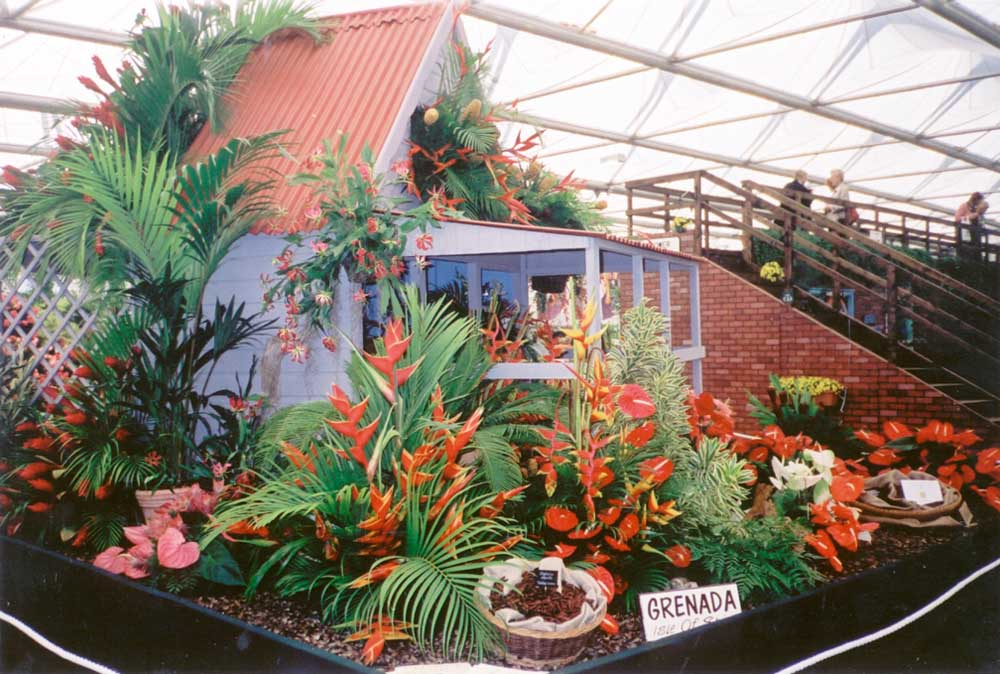 Grenada's 2001 Gold medal exhibit at Chelsea. Photograph courtesy Suzanne Haywood