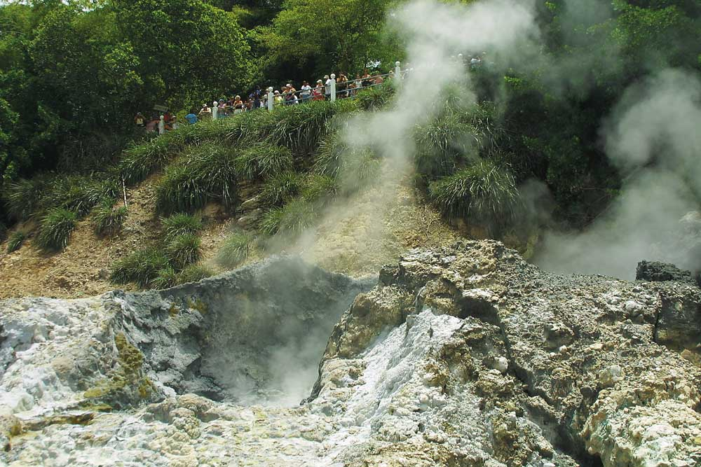 Sulphur Springs at Soufriére. Photograph by Chris Huxley