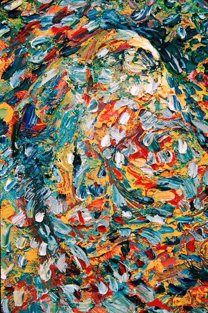 Detail of painting by Llewelyn Xavier. Photograph by Chris Huxley